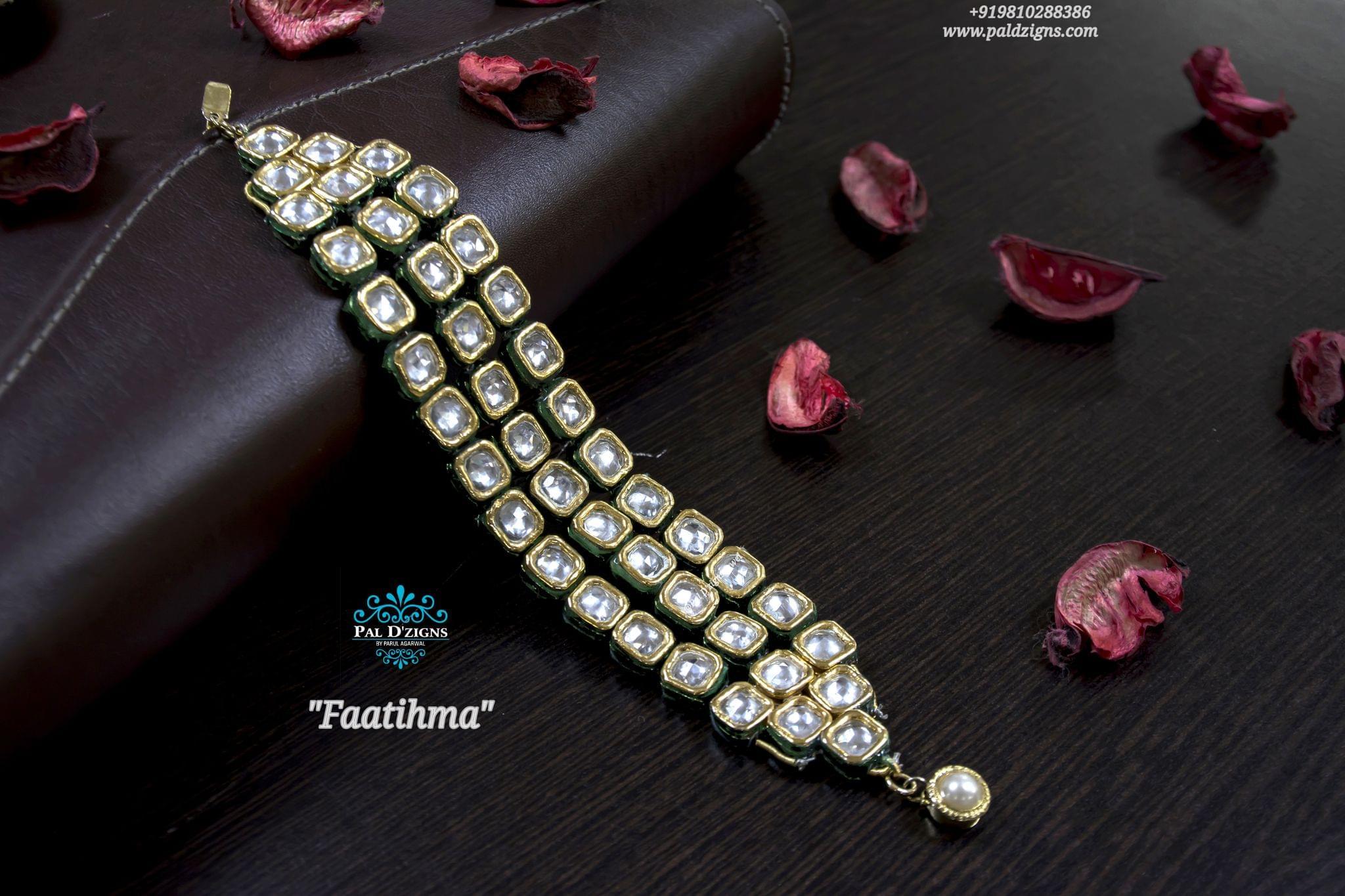 Faatihma kundan bracelet