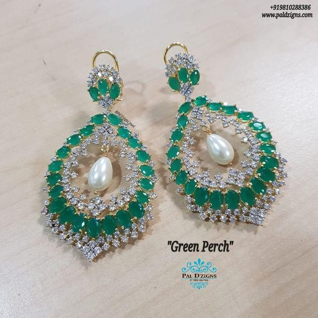 Green Perch Earings