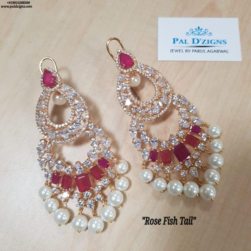 Rose Fish Tail Earings
