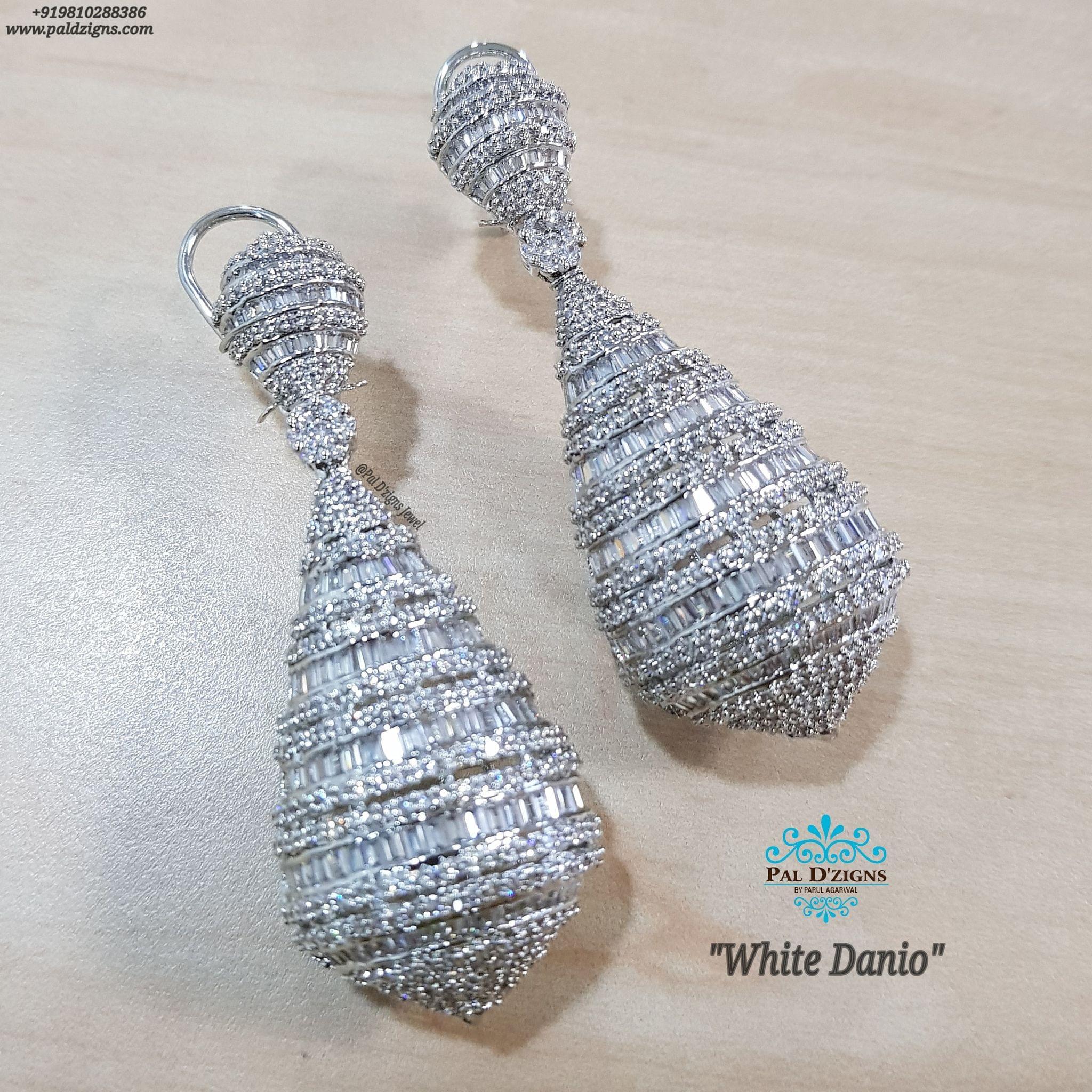 White Danio Earings