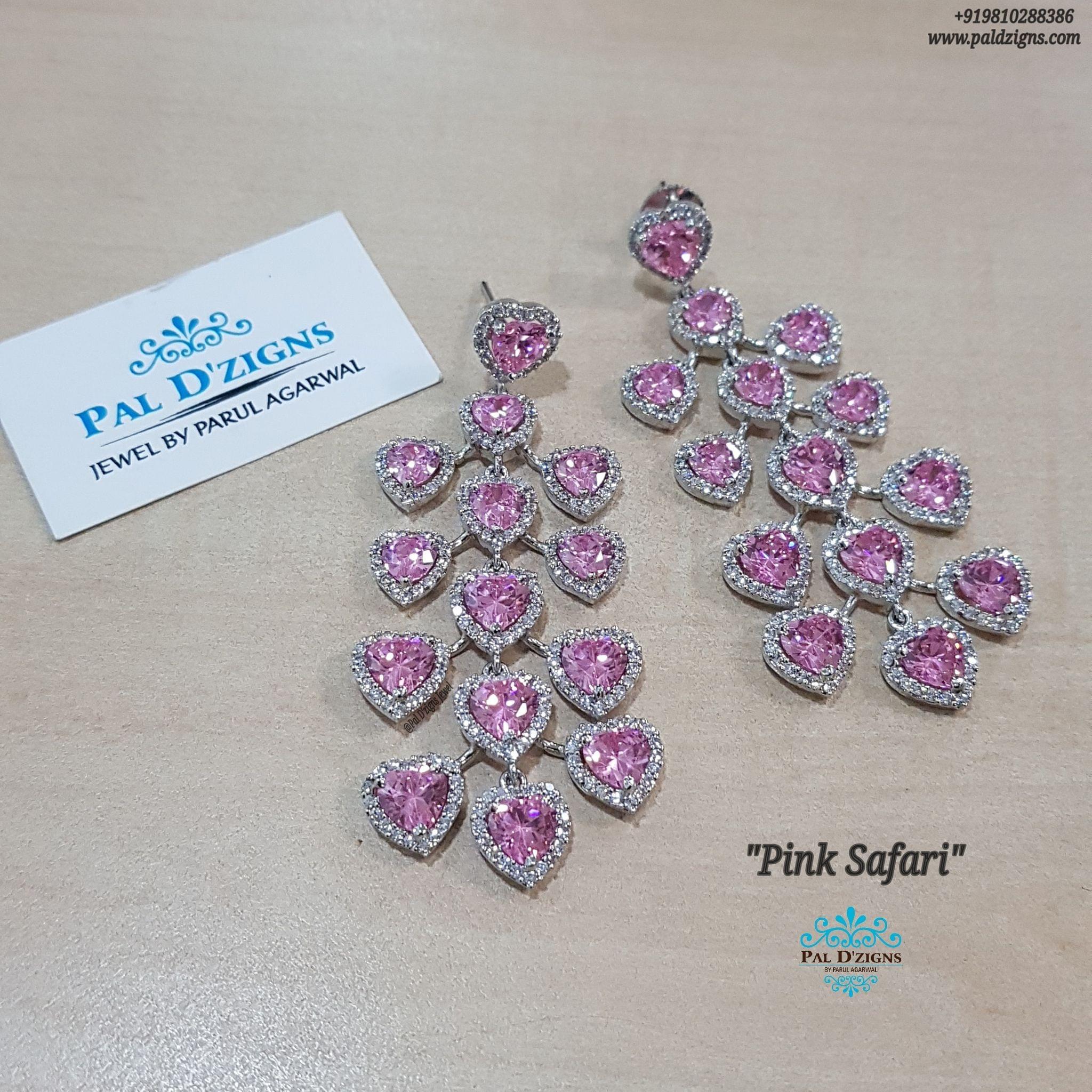 Pink Safari Earings