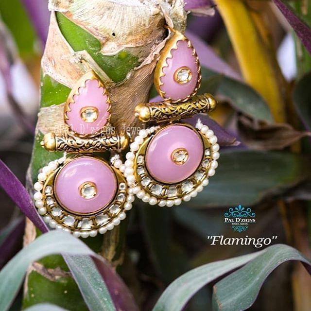 Flamingo Kundan Earing