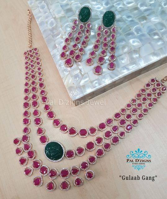 Gulab Gang Diamond Set