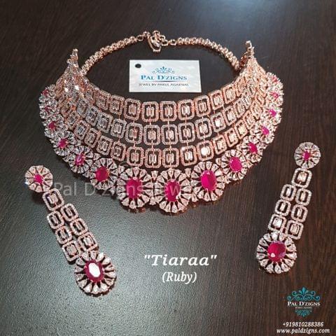 Ruby Tiaraa Diamond Bridal Set