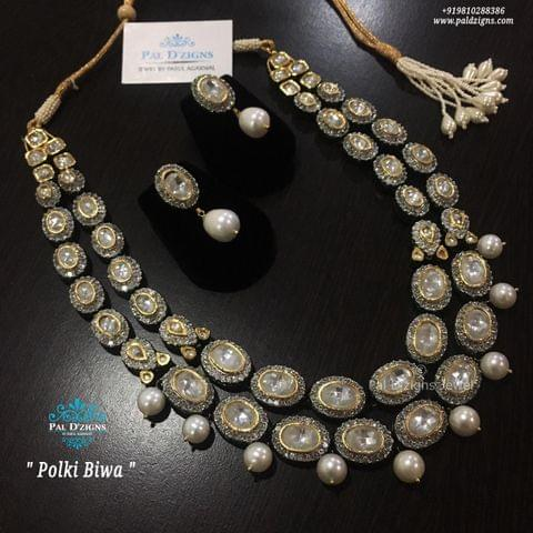 Polki Biwa Necklace Set