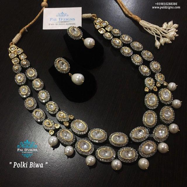 Polki Biwa Necklace Set