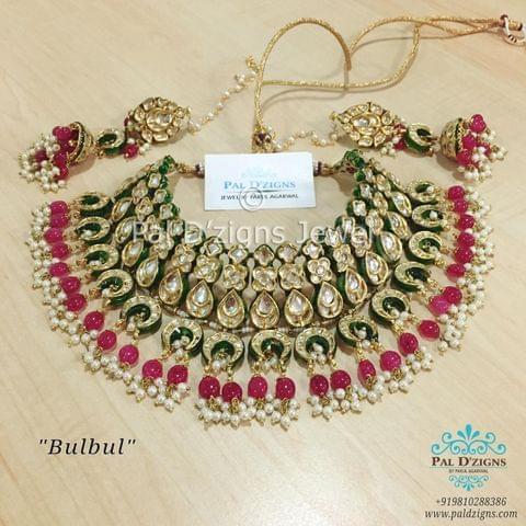 Bulbul Kundan Necklace Set