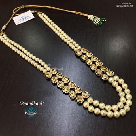 Baandhani Kundan Necklace
