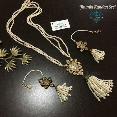 Jhumki Kundan set