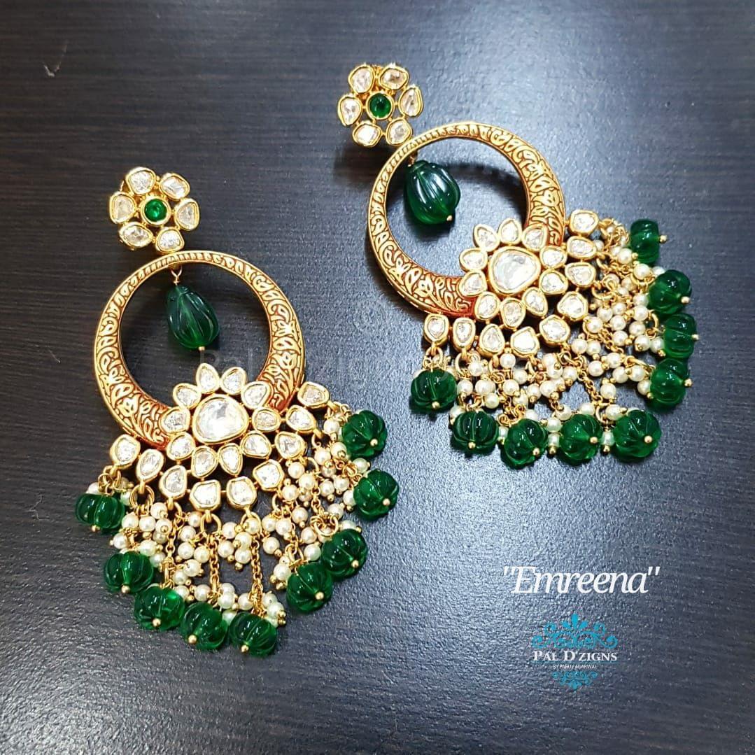 Emreena Kundan Earings