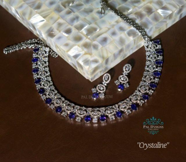 Crystaline Diamond Necklace Set