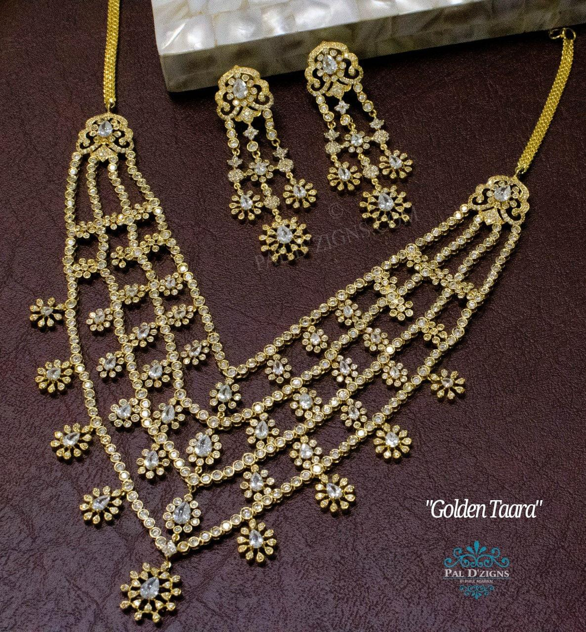 Golden Taara Necklace Set