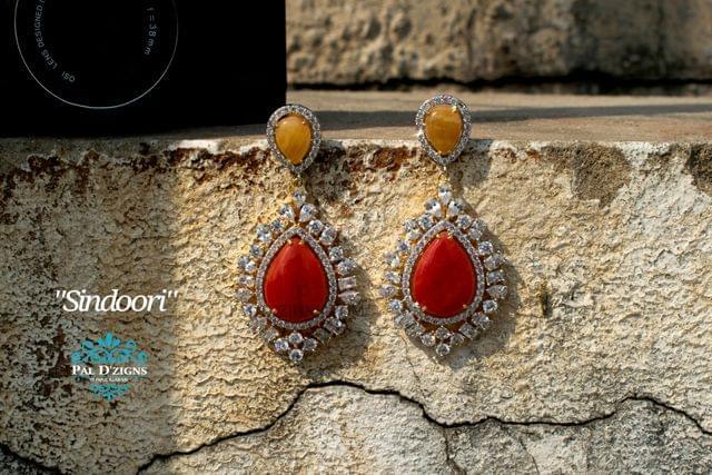 Sindoori Diamond Earings