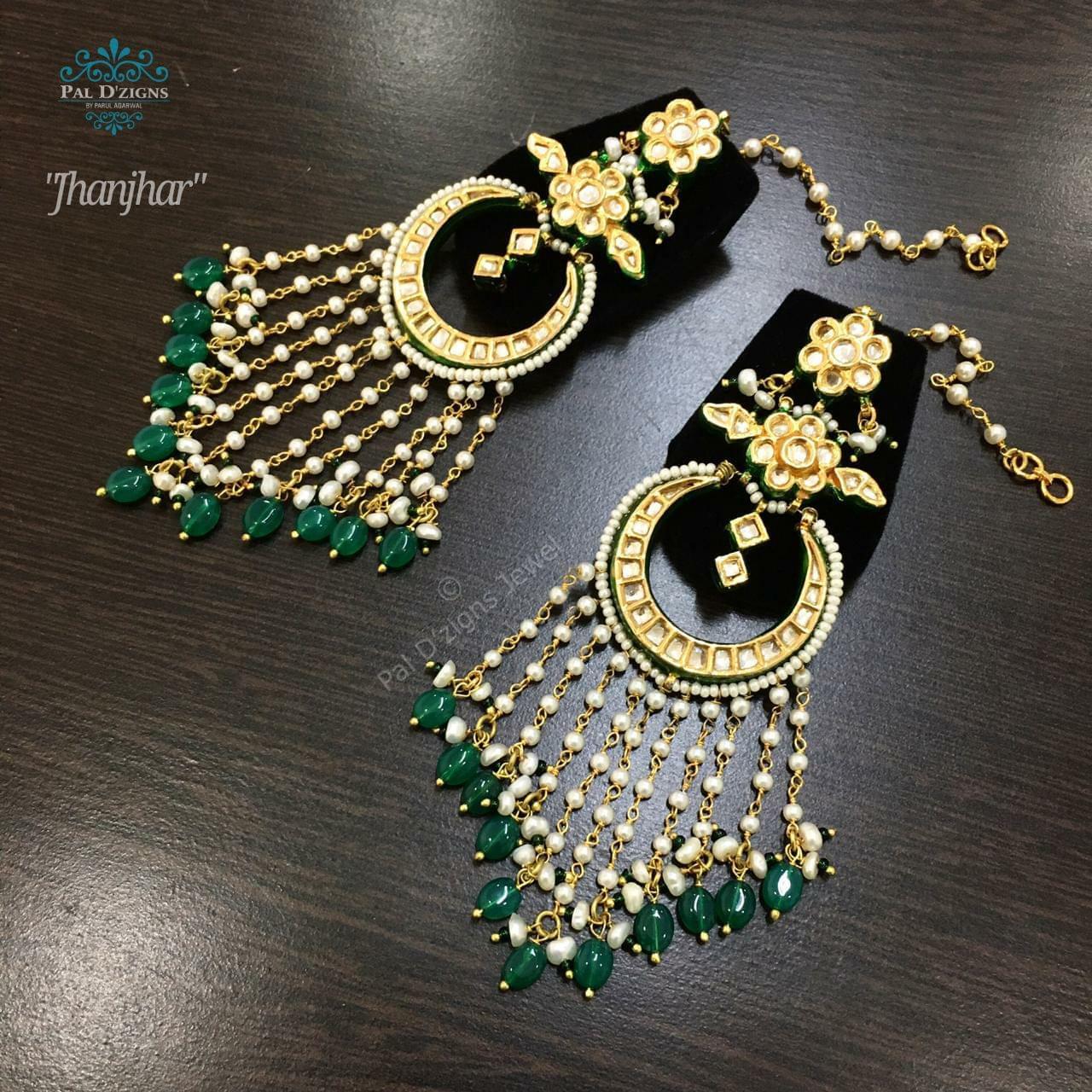 Jhanjhar Kundan Earings