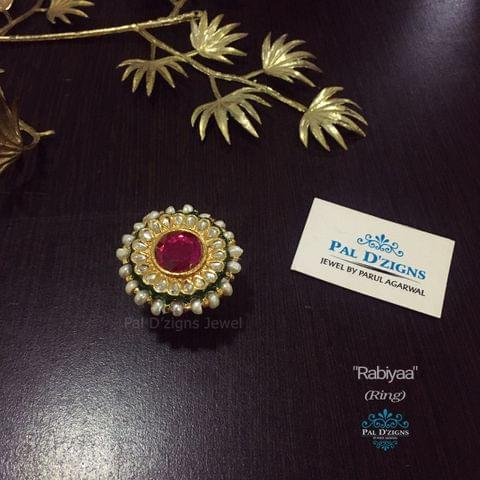 Rabiyaa Kundan Ring