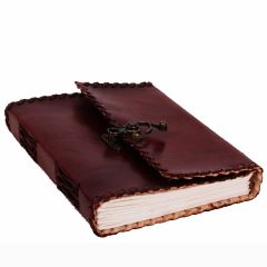 Purpledip Leather Diary / Journal / Notebook with Handmade Paper for Corporate Gift or Personal Memoir (10153)