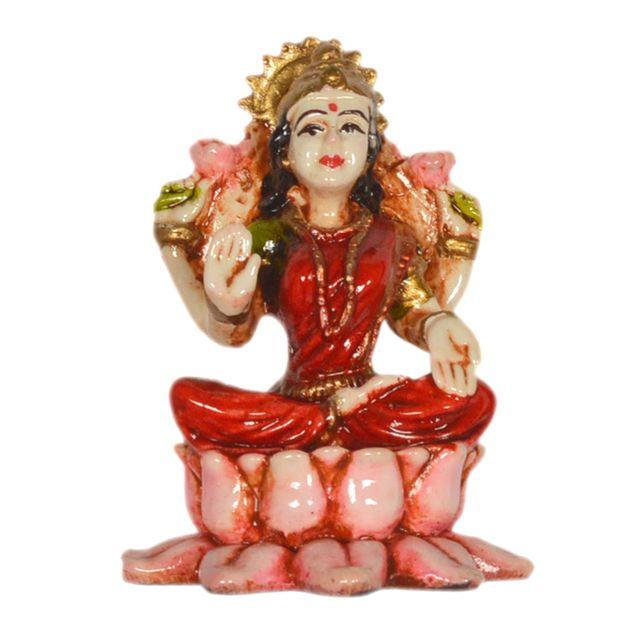 Purpledip Maa Lakshmi Small Table Top, Home Temple, Car Dashboard Statue (10295)
