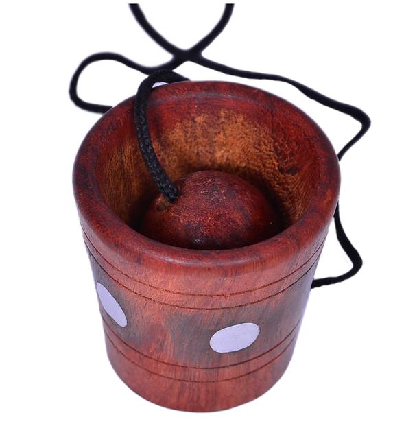Purpledip Cup and Ball Game: Handmade from Rosewood (10420)