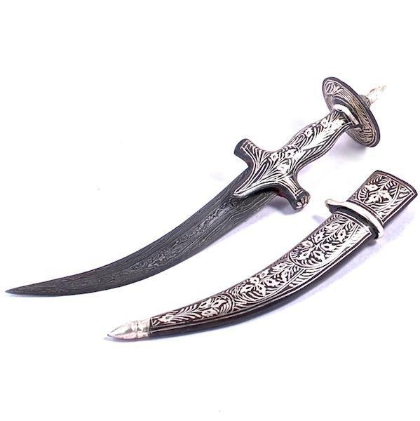 Koftgirii Work Decorative Dagger, Cup Hilt (a112)