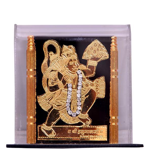 Purpledip Hindu Religious Bajrangbali Showpiece for car Dashboard (10537)
