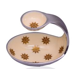 Purpledip Unique Serving Platter with Chutney stand (10587)