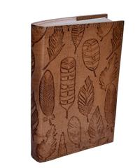 "Purpledip Leather Journal ""Leafy Trails"" (10616)"