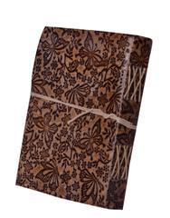 "Purpledip Leather Journal ""Blooming Garden"" (10619)"