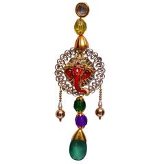 Purpledip Car Mirror Hanging Ganesh Décor (10630)