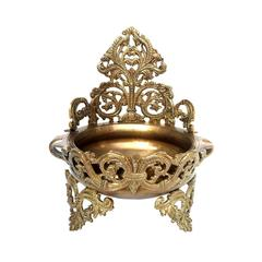 Pure Brass Urli with intricate carving for water & floating flowers Brass Urli Flower Pot / Vase/ Plate for water Flowers (10806)