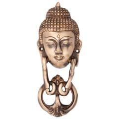 Door Knocker in Pure Brass for Main Door, Buddha Head Design Fully Functional Decorative Buddha Brass Door knocker                               (10819)