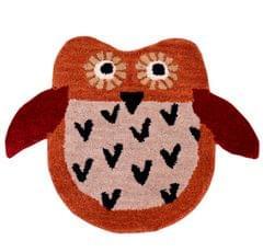 Door Mat Owl Shape: Thick, Soft, Non-skid Floor Carpet Rug 10748a