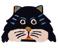 Door Mat Kitty Cat Shape: Thick, Soft, Non-skid Floor Carpet Rug 10747