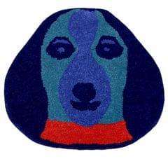 Door Mat Dog Shape: Thick, Soft, Non-skid Floor Carpet Rug 10749a