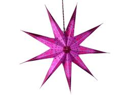 Purpledip 9 Pointed Star Made of Handmade Paper used as Hanging Lantern for Christmas, New Year, Birthday Party Decoration,60 cms (chst05)