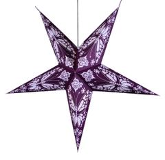 Purpledip 5 Pointed Star Made of Handmade Paper used as Hanging Lantern for Christmas, New Year, Birthday Party Decoration,50 cms (chst07)