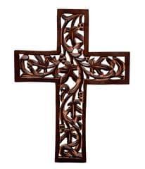 Purpledip Wooden Wall Cross (10773)