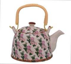 Purpledip Beautifully Painted Ceramic Kettle Tea Pot (10776)