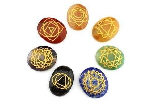 Seven Chakra Healing Stones Set Of 7 (10904)