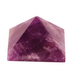 Purpledip Amethyst Gem Stone Pyramid: Hand Polished Authentic Natural Healing Rock For Vaastu Feng Shui Positive Energy (10975)