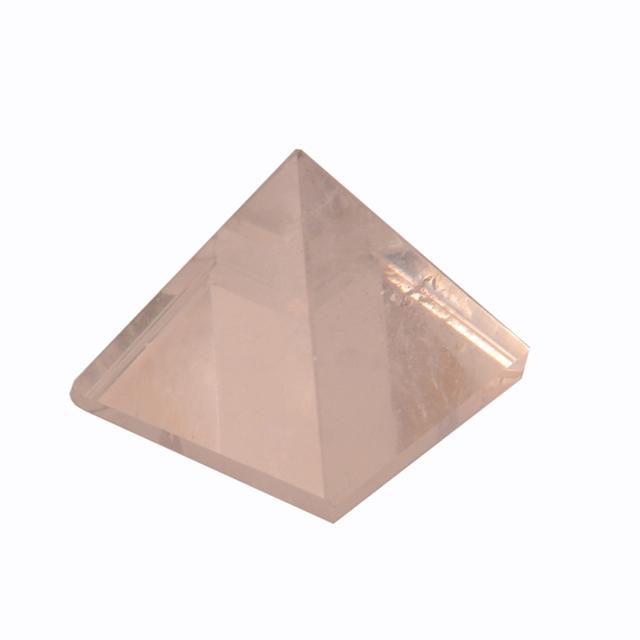Purpledip Clear Crystal Quartz Pyramid (Authentic Gem Stone Rock): Hand Polished Natural Healing Device For Vaastu Feng Shui Positive Energy (10978)
