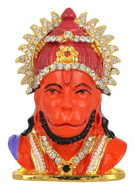 Purpledip Lord Hanuman/ Bajrangbali (Hindu Religious God) Statue Idol For Home Temple, Table Top Or Car Dashboard (11028)