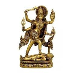 Brass Statue Idol Supreme Goddess Ma Kali Mahakali For Home Temple Mandir (10805)