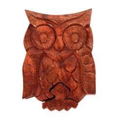 Purpledip Magic Wooden Puzzle Box 'Night Owl': Handmade Mystery Keepsake Box Game Gift (11061)