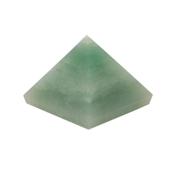 Purpledip Green Aventurine Gem Stone Pyramid: Hand Polished Natural Healing Rock For Positive Energy (11082)