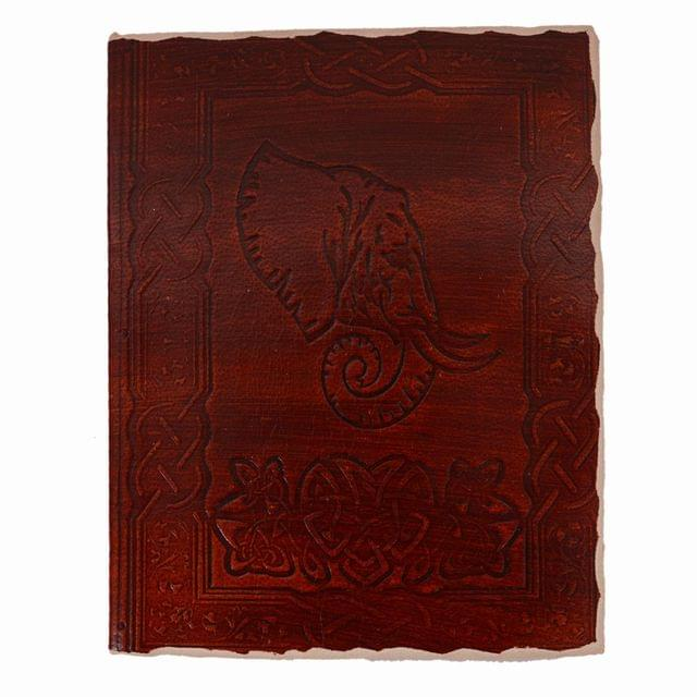 Purpledip Leather Journal (Diary Notebook) 'African Safari': Handmade Paper In Deckle Edge Leather Cover With Unique Chipped Borders For Corporate Gift Or Personal Memoir (11122)