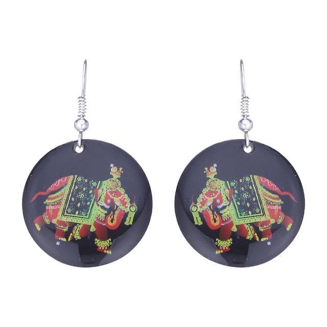 Purpledip Earrings 'Elegant Elephant': Light Weight Funky Ear Rings Designed By Master Craftsmen (30121)
