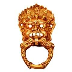 Purpledip Brass Door Knocker Drawer Pull Ring Handle Knob 'Evil Eye' (11132)
