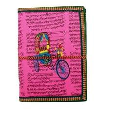 Purpledip Handmade Paper Journal 'On The Go': Vintage Diary Notebook With Thread Closure (11163)