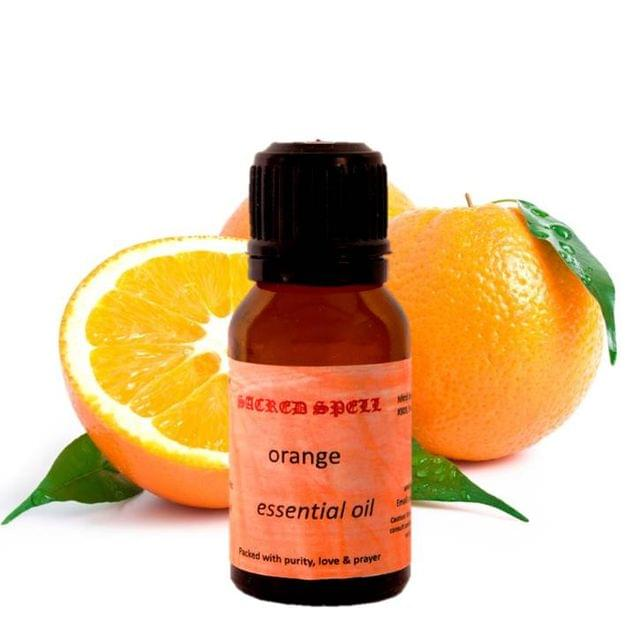 Sacred Spell Orange Oil (15 Ml): 100% Natural - Great For Managing Fatigue, Edema, Arthritis, Stress & Improving Dental Hygiene