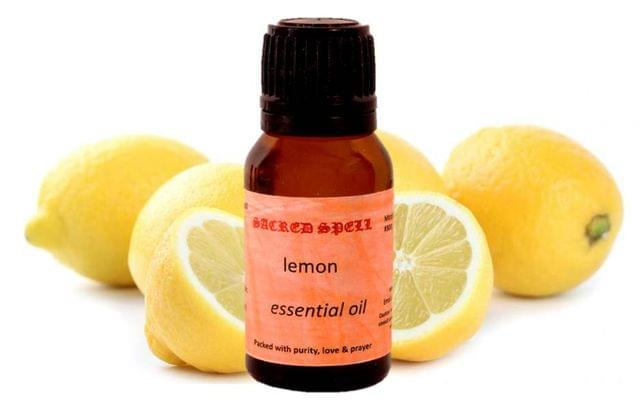 Sacred Spell Lemon Oil (15 Ml): 100% Natural - Suitable In Managing Fever, Infections, Asthma, Obesity, Skin Disorders, Hair Conditions, Stomach Problems, & Tiredness